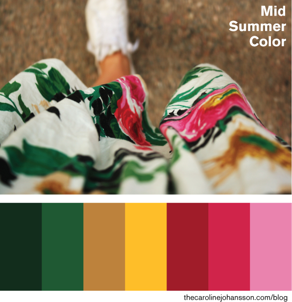 Color palette, midsummer