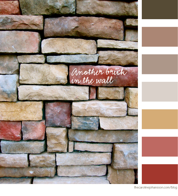 Color palette, brick in the wall