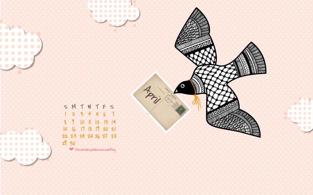 Desktop Calendar April 2016 freebie: april 2012 desktop calendar | thecarolinejohansson