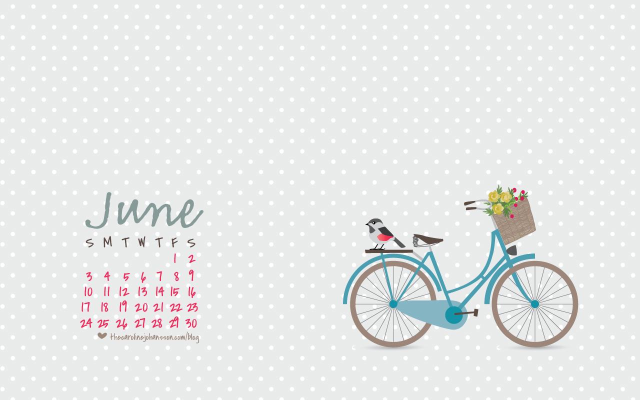 June Calendar Desktop Wallpaper : Thecarolinejohansson archive freebies