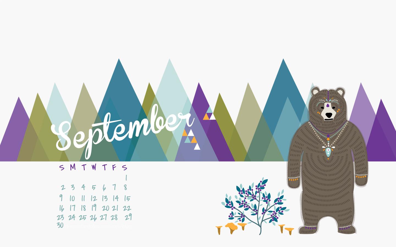 Desktop Calendar Wallpaper Creator : Freebie: september desktop calendar thecarolinejohansson.com