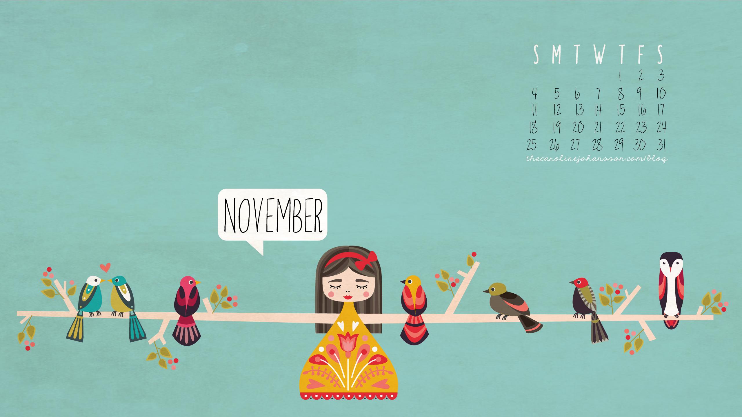 Freebie November Desktop Calendar Thecarolinejohansson Com