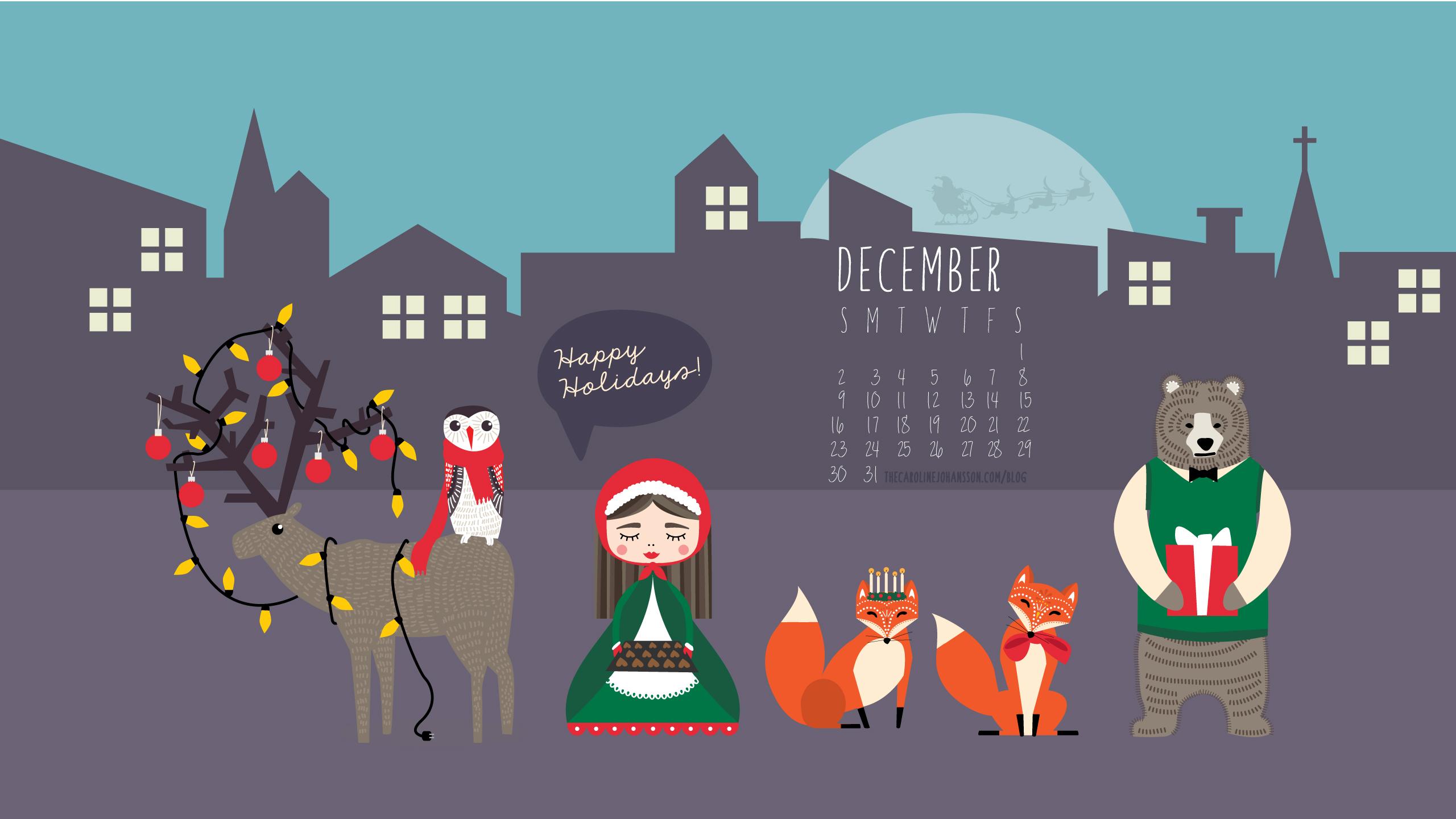 Christmas Calendar Wallpaper : Freebie december desktop calendar thecarolinejohansson