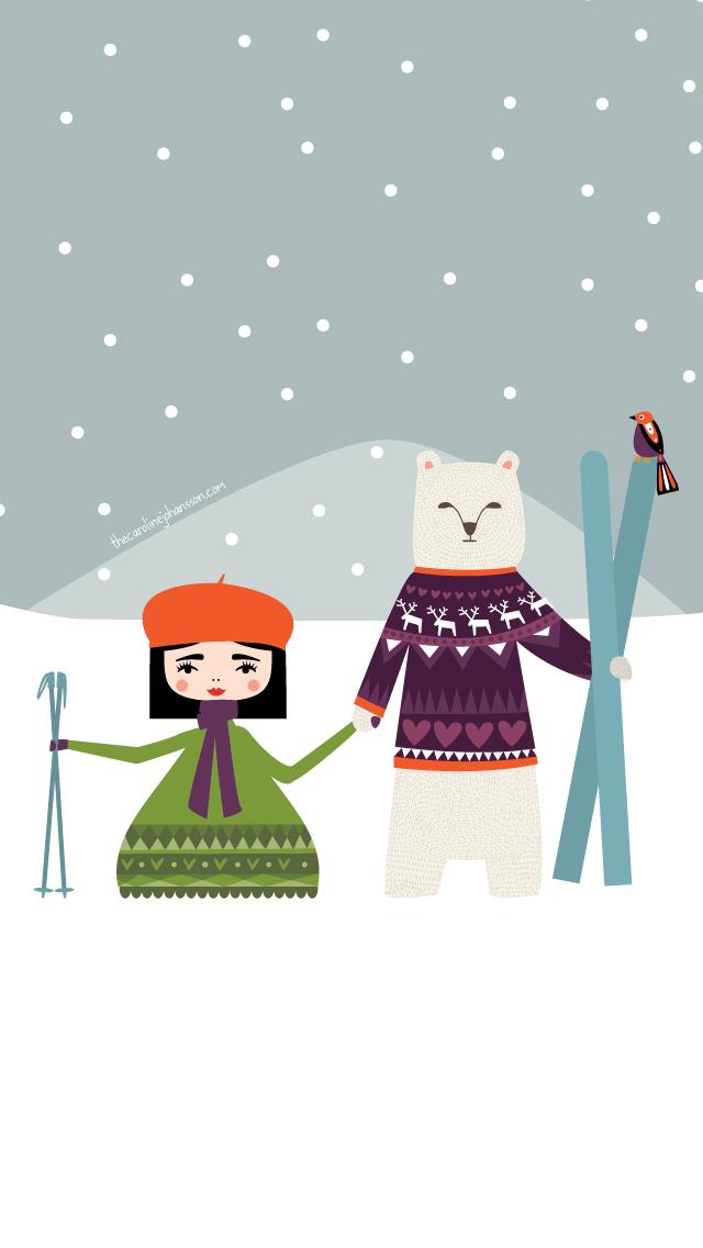 Free January 2013 Desktop Calendar From Caroline Johansson