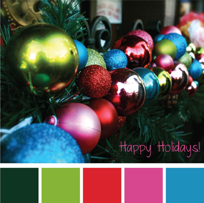 Christmas Tree Colour Schemes 2014: Color Palette: Happy Holidays